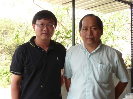 Professor Pichai Kongpitak and me.