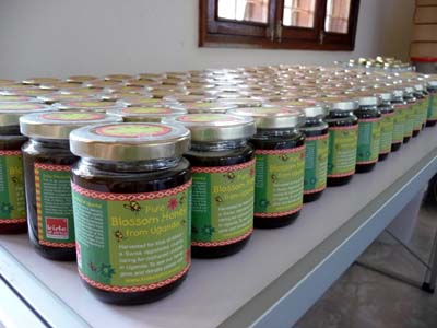"""""""Kids of Africa"""" honey packed and ready for delivery for Shoprite Supermarket, Kampala"""