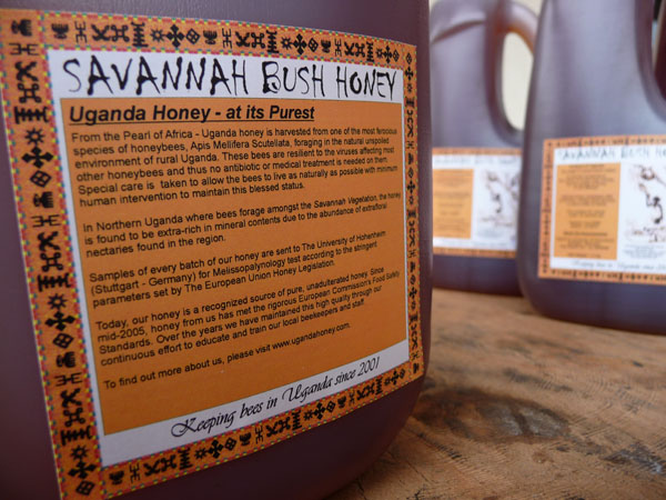 Uganda Savannah Bush Honey back literature.