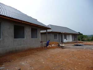These guest house near completion.